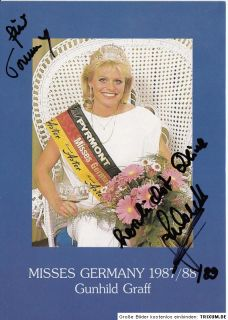 Gunhild Graff TOP AK 80er Jahre Orig. Sign. Miss Germany 1987/88