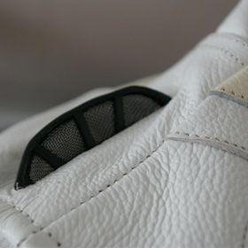 giacca per moto scooter in pelle bianco giubbotto NUOVO