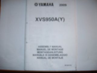 Montageanleitung Set up manual Yamaha XVS 950 A (Y) XVS950 11/2008