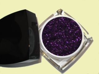UV Glittergel Nagelgel Colorgel   Black Magic Violet   15 ml ***