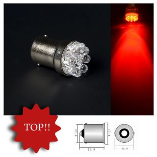 Rot Red LED Lampen 9 LED BA15s Sockel 12 Volt