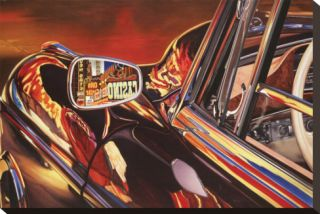 1956 Mercedes 220, Las Vegas Stretched Canvas Print by Graham Reynolds