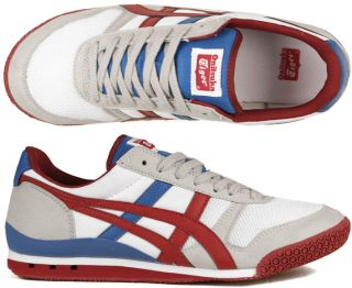 Asics Schuhe Onitsuka Tiger Ultimate 81 white/red weiß/rot/grau