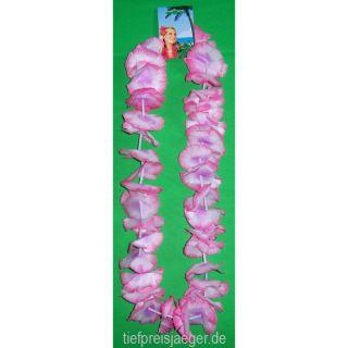 HAWAII BLÜTENKETTE # Party Blumenkette Leis pink 52412