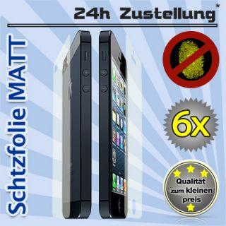 6x iPhone 5 Folie MATT Schutzfolie Vorne Hinten MATT Display Schutz