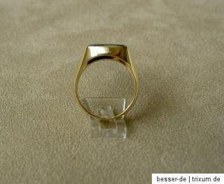 Herren Siegelring 585 Gold Ring Goldring Wappenring Lagenachat