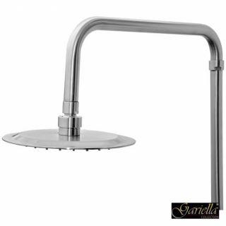 Design Duschsystem aus Edelstahl mit Regendusche, Armatur u. Brause