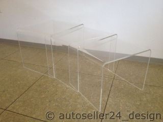 70er Jahre Acryl Nestingtables Beistelltische Tische Kunststoff Panton