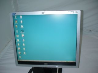 LESEN) AOC 719Va+ 43cm TFT Monitor LCD Display DVI VGA Audio