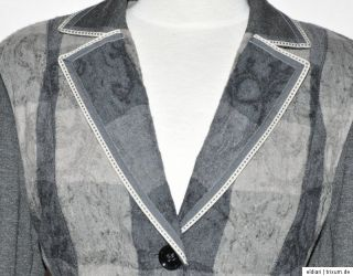 Gerry Weber Blazer Jacke gr 40 Grau Neu