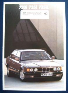 Prospek brochure BMW 7er Reihe 730i 735iL (1988)