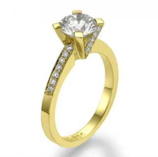 67 Carat D/SI 585 14kt Gold Solitar Diamantring Brilliant Ring Wert