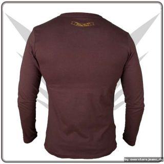 Fancybeast Braunes Longsleeve Shirt Buddha Print S M L XL XXL Xtrem