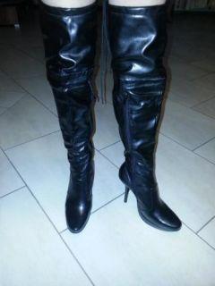 Damen High Heels Plateau Overkneestiefel Fetisch Domina Dance Stiefel