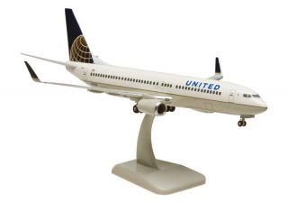 United Boeing 737 800 1:200 Hogan Wings Flugzeug Modell 4457 B737 NEU