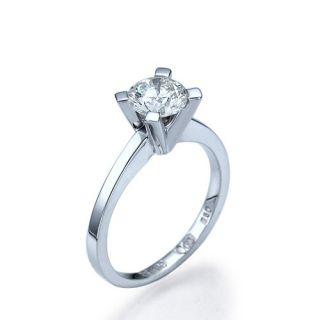 22 Carat D/SI2 Diamantring Brillant 14kt 585 Weißgold Solitar Ring