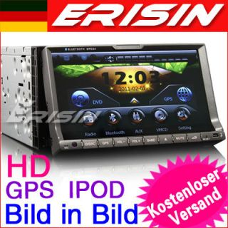 ES728GE 7 2 Din HD Touchscreen Autoradio Navigation GPS IPOD TV 3D