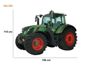Aufkleber fendt schriftzug oldtimer outline traktor a51 - Traktor wandtattoo ...