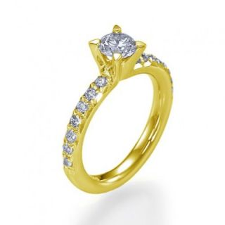 75 Carat D/SI Brillant Diamant Ring Diamantring Weißgold 14kt 585