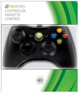 OFFICIAL XBOX 360 WIRELESS CONTROLLER (BLACK) Xbox 360 *NEW & SEALED