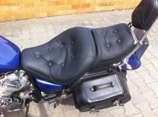 Yamaha Virago 750 1100 Fahrer und Soziussitz beziehen   Nahtfarbe