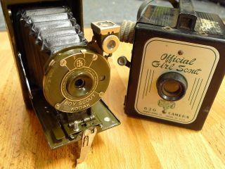 rare vintage KODAK green BOY SCOUT herbert george GIRL SCOUT 620 film