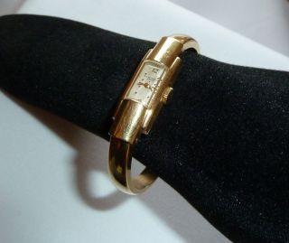 Baume & Mercier Geneve Spangenuhr 750 Gold um 1950