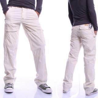 Blue Vibes Herren Lange Hose Cargohose Vintage Jeans