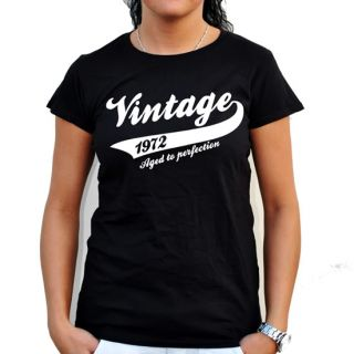 VINTAGE 1972 YEAR 40th BIRTHDAY GIFT PRESENT T SHIRT MENS WOMENS ALL