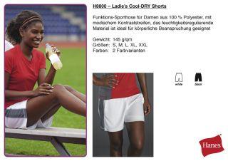 H8800 Ladies` Cool Dry Shorts Hose Sporthose kurz Laufhose Short Sport