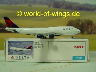 Delta Air Line Boeing Boeing 747 400 Herpa wings 509615
