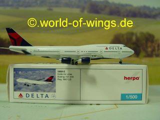 Delta Air Line Boeing Boeing 747 400 Herpa wings 509615