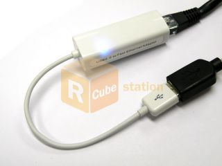 REAL USB 2.0 to Lan 10/100 Ethernet Adapter Cable AX88772A for MAC OS