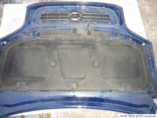 Opel Zafira A Motorhaube Blau