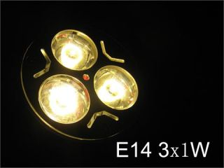 3X1W Lampe E14 High Power 3 LED warm weiß Leuchte Soptlampen