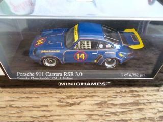MINICHAMPS * PORSCHE 911 CARRERA RSR * TRANS AM 1974 * OVP * 143