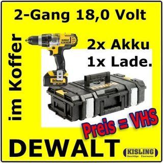 Dewalt 2 Gang Akku Bohrschrauber DCD 780 M2K Kombo Pack 4,0 AH   Tough