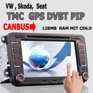 2012 NEU CANBUS AUTORADIO DVD GPS NAVI PIP DVBT TMC VW PASSAT GOLF