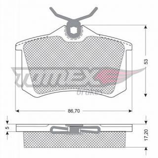 Bremsbeläge / Bremsklötze HA hinten Seat Leon 1P1