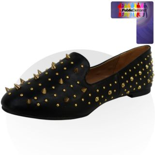 ByPublicDemand   F4 WOMENS LADIES SPIKE Nieten verziert FLAT FASHION
