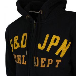 Superdry Kapuzen Jacke Sweat Weste schwarz gelb Gr. M L XL XXL NEU