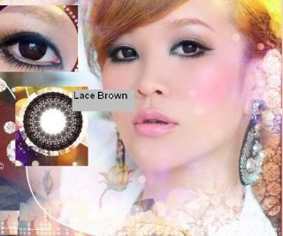 Crazy Kontaktlinsen lente contact lens Chocolate Black Brown Diamond
