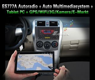Erisin ES777GD 7 2 Din HD Autoradio TV GPS+Tablet PC Android 2.3 WiFI