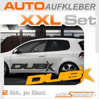 E156 Shocker XXL DUB Aufkleber Sticker Golf VW Audi