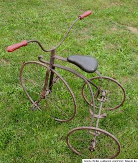 GROSSES ANTIKES DREIRAD HOCHRAD UM 1920 LARGE ANTIQUE TRICYCLE ANCIEN