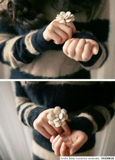 XXL Ring große weiße Blume mit Perle Seerose Rose Perlmutt Ring 3 D