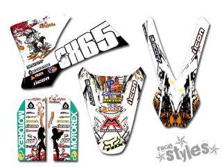 KTM KIDS SX 50 65 85  2000 2012  FACTORY ROCKSTAR FULL GRAFFITI
