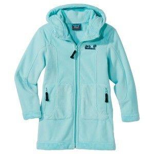 Jack Wolfskin Fleece Jacke Mantel Girls Koala Coat blue