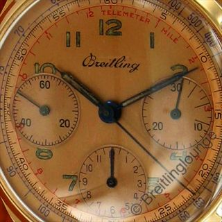 BREITLING Uhr Premier 788 Tricompax 18 Kt Gold aus 1946
