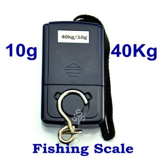 10g 40Kg Digital Hanging Luggage Fishing Weight Scale Portable & Hot